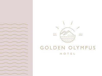 Golden Olympus Hotel logo see gold olimp greece greek hotel logoinspire logoidea branding logodesign logodesigner logomark logo logotype