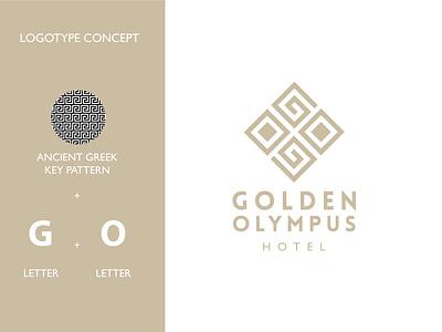 Golden Olympus Hotel Logo greece hotel greece hotel brand logoidea logoideas logoconcept branding logodesign logodesigner logomark logo logotype
