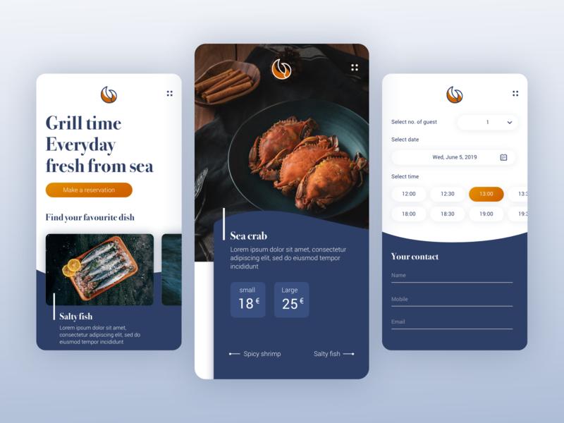 Grabbe grill bar mobile restaraunt food website webdesign uidesign ui digitalmedia design graphicdesign