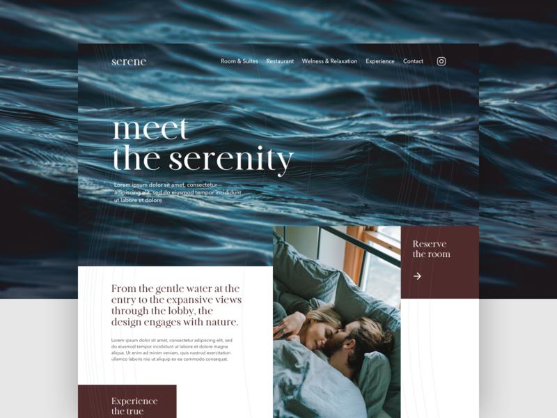 Hotel website :: Meet the serenity nature hotel website webdesign uidesign ui digitalmedia design graphicdesign