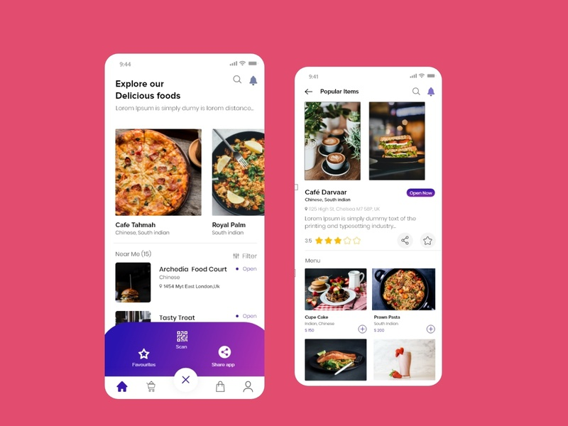 foodorder template mobile app ios android agency business finance illustration bank credit debit card payment user experience ux restaurant app foodie app design food order