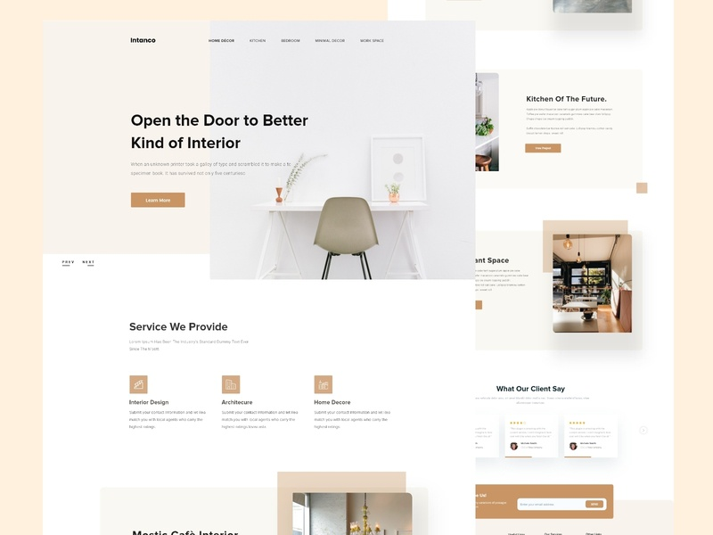 Interior Home Page Design bank credit debit card payment agency business finance user interface ui furniture design interior design new trend clean website user experience ux web landing page