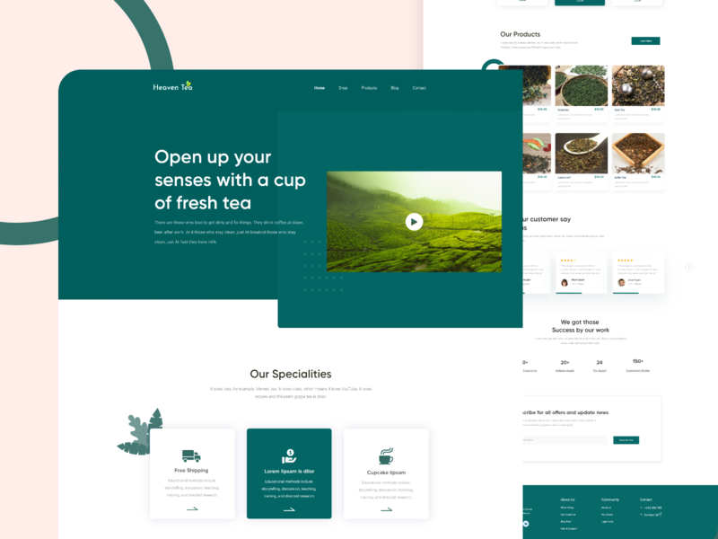 Tea Landing Page typography android user experience clean b2b sass account management responsive design tea tree ui ux user interface ui user experience ux tea website new trend clean website agency business finance web landing page