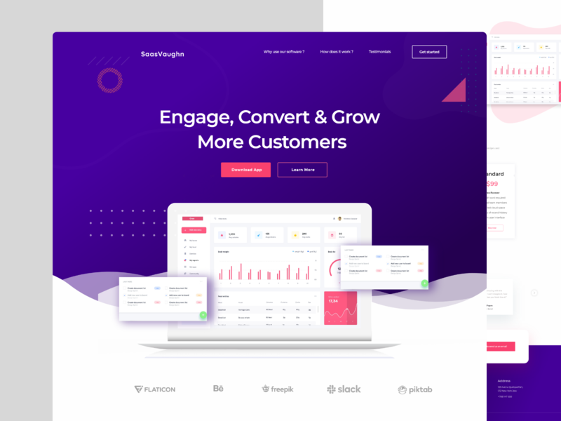 Saas Landing Page Design clean b2b sass android user experience saas website android ios app user interface ui user experience ux agency business finance new trend clean website web application design app landing page saas landing page web landing page