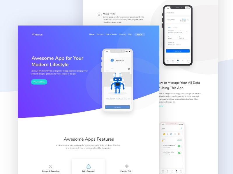App Landing page contact form support product illustration minmal webpage popular new trend trending dashboard saas b2b agency typography design ui ux interface website template ios android app web landing page