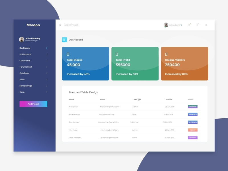 Admin Panel Dashboard Exploration admin panel clean b2b sass new trend clean website template mobile app ios android dashbaord web landing page