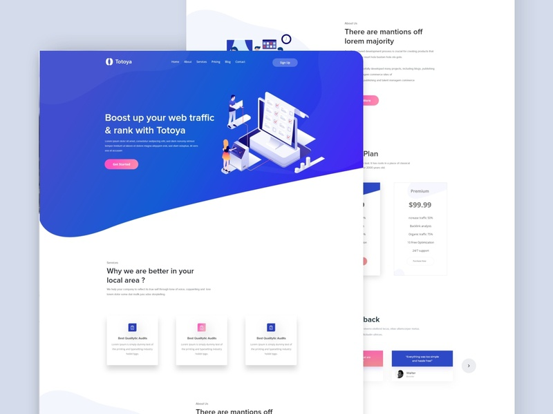 Landing Page Exploration bitcoin money dashboad ui ux user interface ui user experience ux bank credit debit card payment account management website design web design blockchain services contact boost new trend clean website illustration web landing page