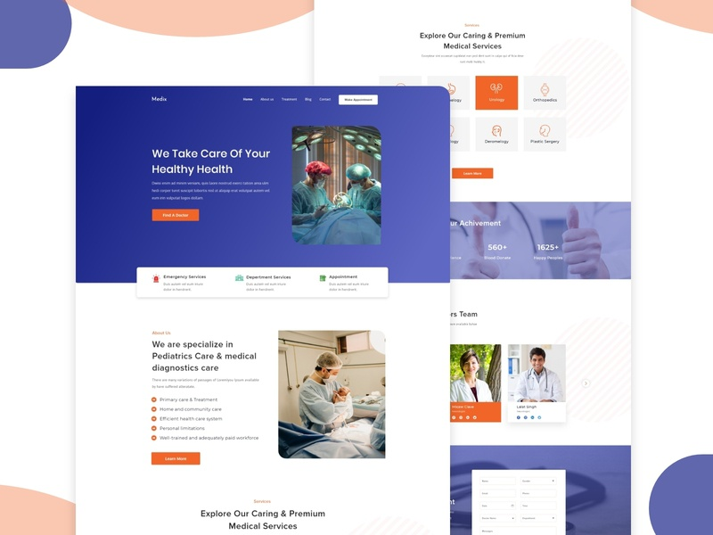 Medix Medical website user experience ux bank credit debit card payment template mobile app ios android bitcoin money dashboad ui ux new trend clean website clinic medical web doctor web web landing page