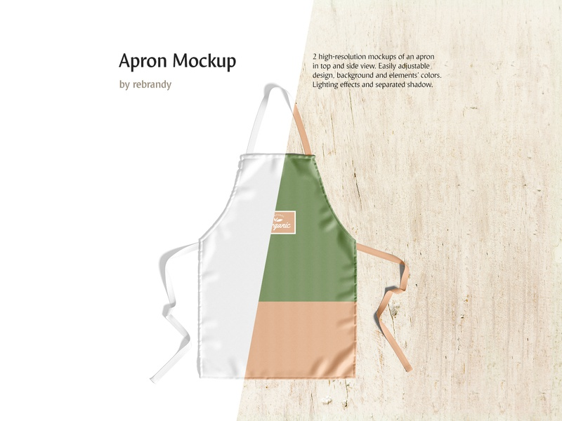 Apron Mockup restaurant protect dickey pinafore chief waiter maid housewife baker uniform bib chef cooking protection cotton protective kitchen apron psd mockup