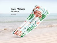 Swim Mattress Mockup relaxation swim mattres matres floating raft mat bed holiday water rubber air pool inflatable summer swimming mattress download psd mockup