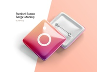 Freebie! Button Badge Mockup corporate campaign clasp company banner campaigning buton vote tag name volunteer brooch emblem freebie free mockup pin plastic button badge