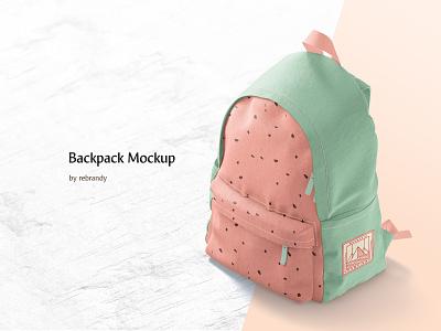Backpack Mockup school satchel pack backpacking purse baggage case zipper student packsack schoolbag rucksack haversack backpack bag knapsack sport download psd mockup