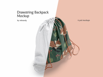 Drawstring Backpack Mockup package haversack backpacking packsack sack sport carry back pack rope bagging canvas cord cloth pouch bag drawstring backpack download psd mockup