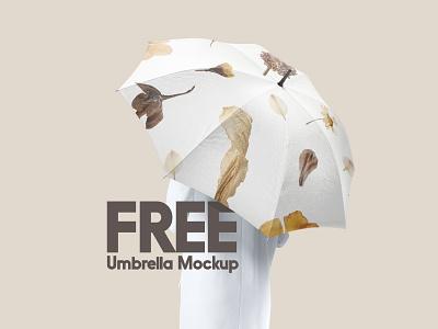 Free Umbrella Mockup bumbershoot weather rainy accessory rain umbrela freebie free download psd mockup