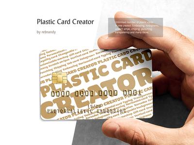 Plastic Card CREATOR download psd mock up display financial debit creditcard magnetic credit card bank mockup