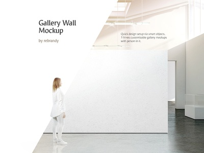 Gallery Wall Mockup mock up download psd art canvas exhibition exposition expo museum mockup wall gallery