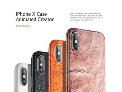 iPhone X Case Animated Creator apple accessory smart phone slipcover cover mock up download animated iphone case psd mockup