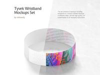 Tyvek Wristband Mockups Set