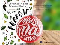 christmas tree ball freebie  1