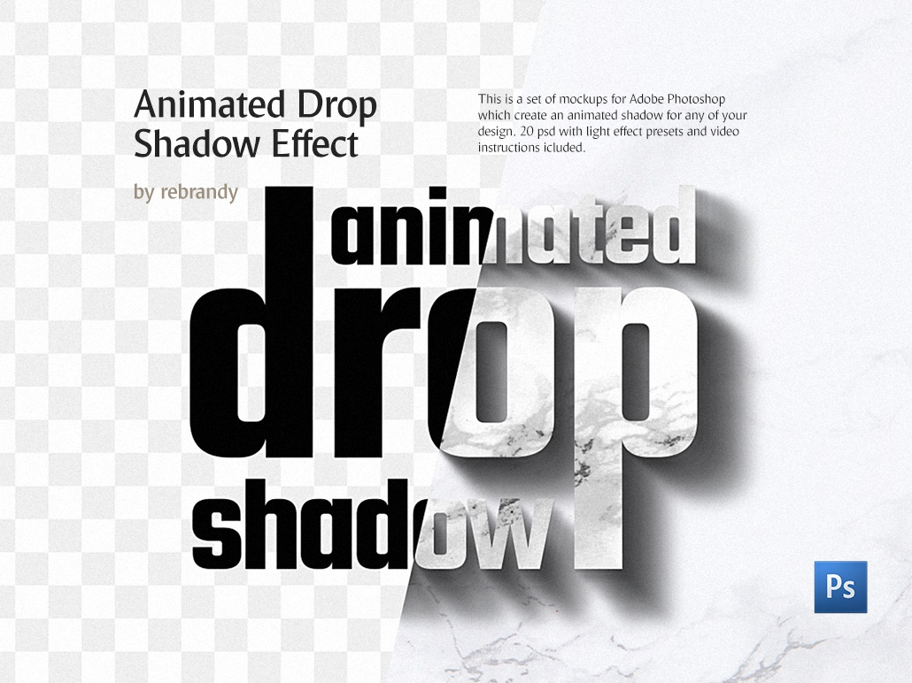 Animated Drop Shadow Effect by Alexandr Bognat on Dribbble