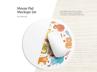 Mouse Pad Mockups Set rubber gaming rug mouse pad desk control table pc pad click mousepad mat computer mouse accessory design mock up download psd mockup