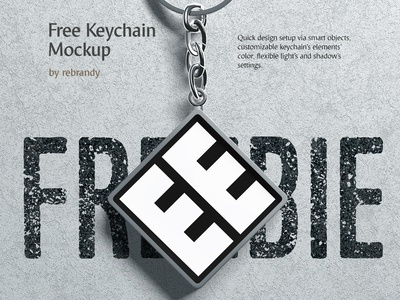 Freebie! Keychain Mockup