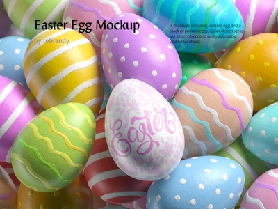 Easter Egg Mockup colored decoration paint tradition religious symbol animal food chicken stack eggshell colorful easter egg easter egg design mock up download psd mockup