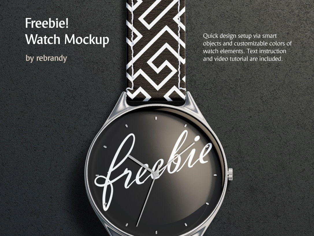 Freebie! Watch Mockup accessories bangle template product design free hand wristwatch bracelet hour watch minute clock band time arm accessory mock up download psd mockup