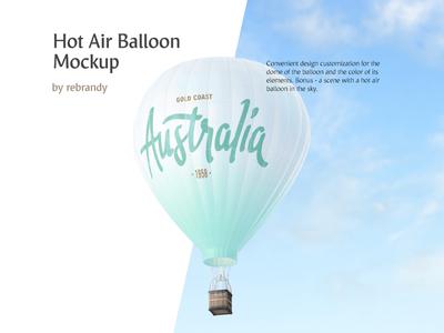 Hot Air Balloon Mockup