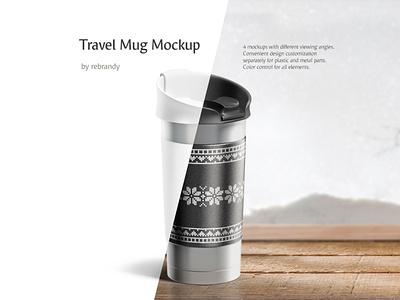 Travel Mug Mockup cap liquid shaker warm insulate tumbler thermos thermo temperature tea steel hike cup metal drink beverage download psd mockup travel mug
