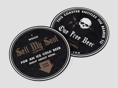 MockHell Sour Brewery Coasters