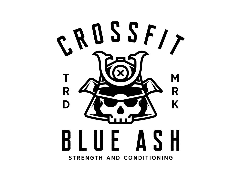 Blue Ash Samurai Skull Mascot