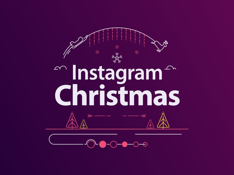 Instagram Christmas - Animated Festive Greeting Cards typography logo ae premier pro designs trendy mograph greetings premiere pro minimal design instagram new years greeting cards festive christmas after effects animation adobe aftereffects
