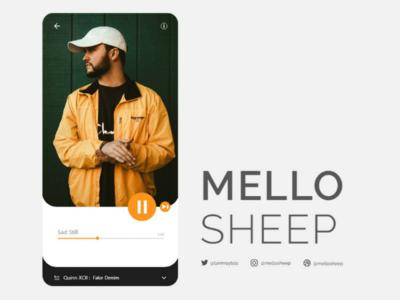 Minimalist music UI