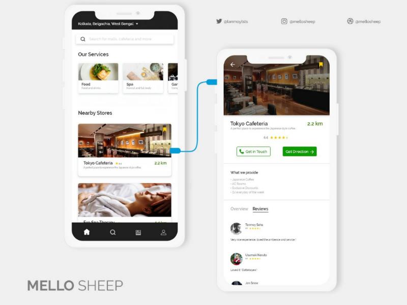 Nearby Store Locator App uidesign appdesign design uiux travel prototype dailyui adobexd adobe ux ui