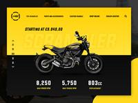 Ducati Scrambler One Page Design
