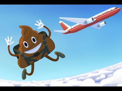 Airplane Toilets airplane emoji poop