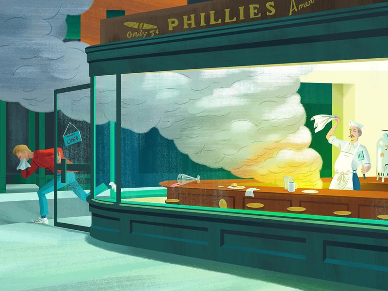 Not All Mom Pop Restaurants are Good art history restaraunt edward hopper