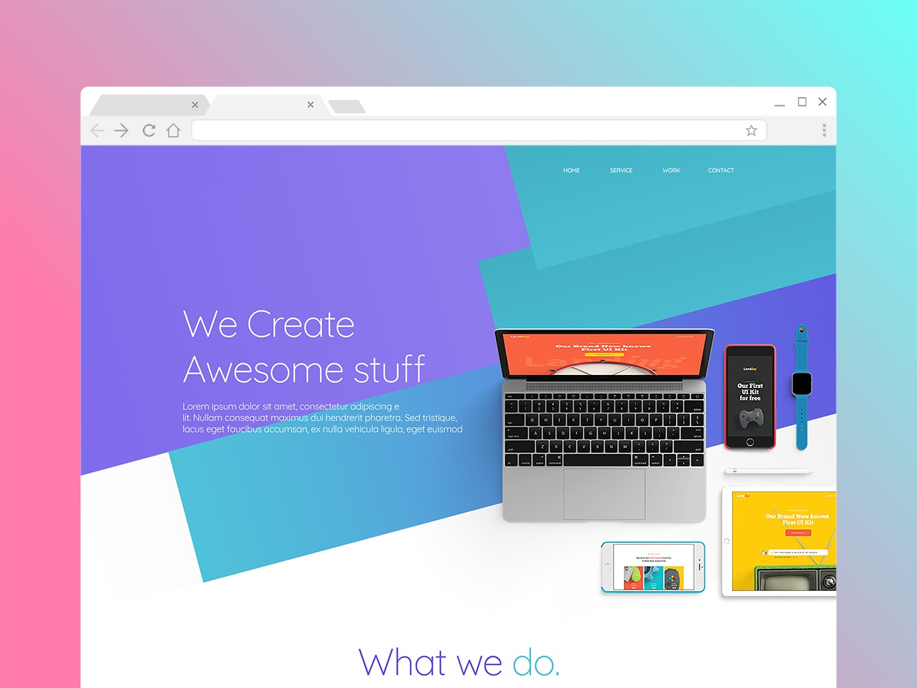 Landing Page adobe branding website pinks colors minimal concept landing design landing page ux web ui vector art design 99designs vector illustration icon flat art