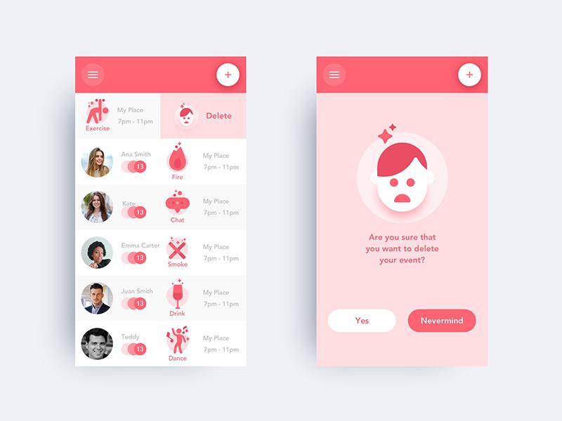ToGather illustration design app mobile ui ux
