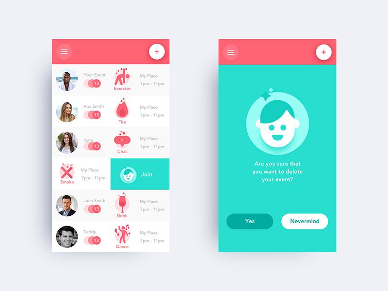 ToGather mobile app illustration ux ui