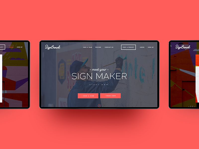 SignCrowd startup design ux ui