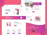 Child Care Non Profit Website Homepage Ui (Adobe XD Freebies)
