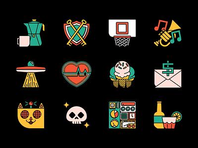 New Icons vector graphic design color illustration branding design icon