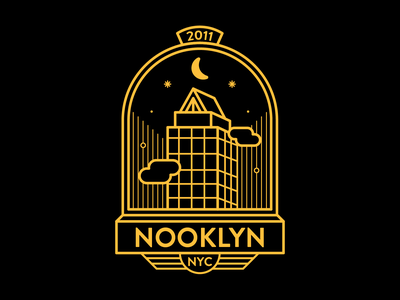 Nooklyn Badge No.1 branding graphic design illustration logo badge graphic design