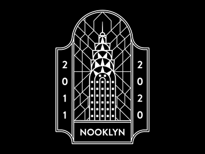 Nooklyn Badge No. 2 icon vector abstract branding illustration badge graphic design graphic design