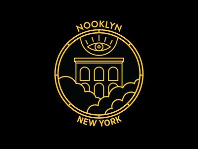 Nooklyn badge No.3 vector color icon badge illustration logo typography graphic design graphic design