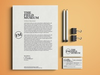 Field Museum Letterhead and Business Card