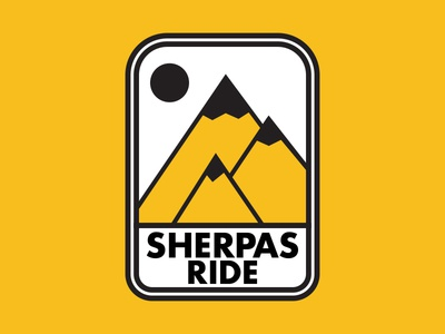 Sherpas Ride branding vector graphic design icon badge illustration graphic type logo typography design