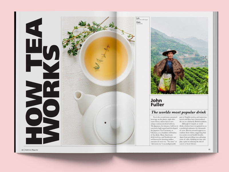 How Tea Works print magazine editorial layout graphic design graphic type typography design